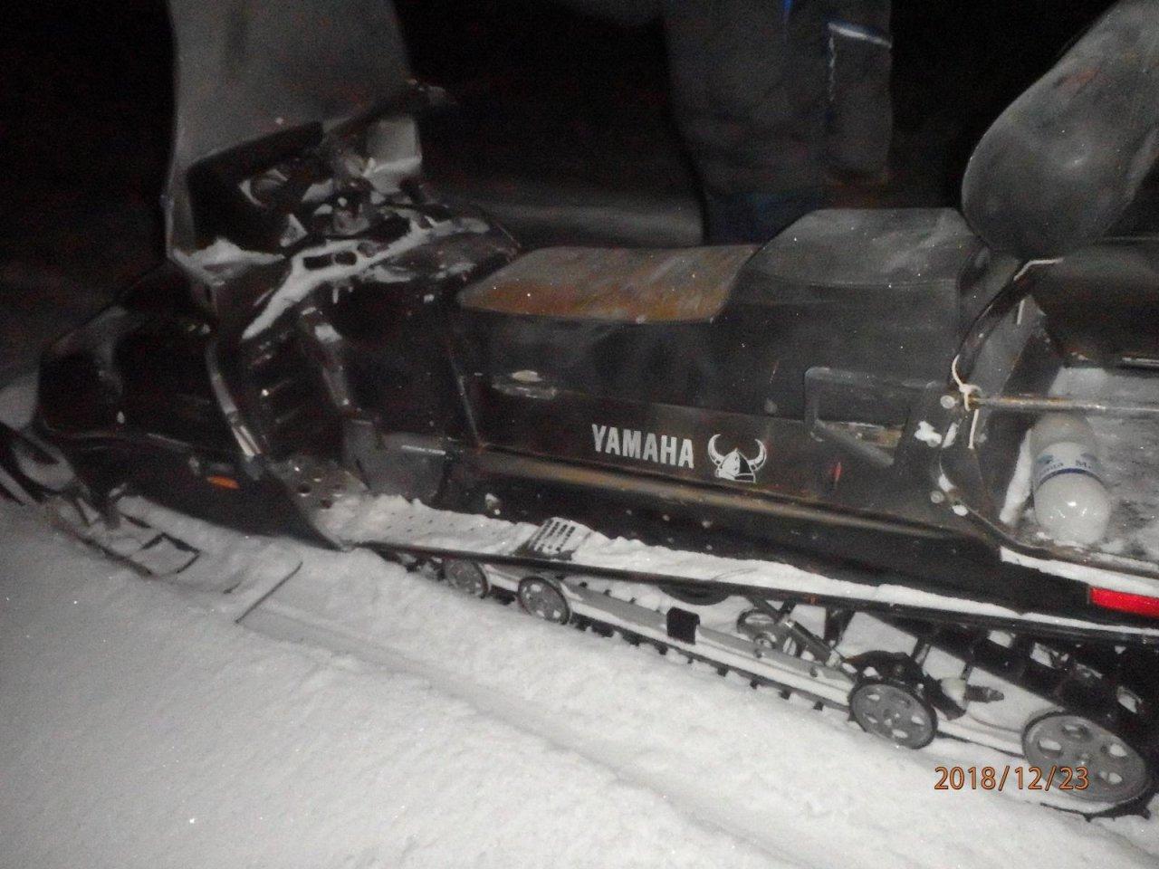 В Чепецком районе по вине пьяного водителя снегохода пострадал его пассажир