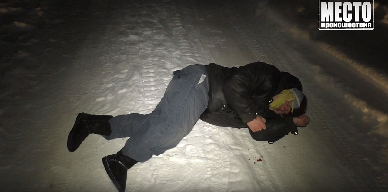 Появилось видео задержания пьяного водителя снегохода в Кирово-Чепецком районе