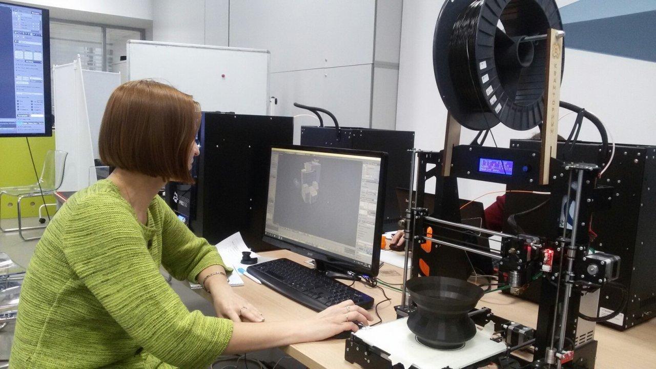 Преподавателей «Кванториума» учат  работать  на высокотехнологичном 3D-оборудовании