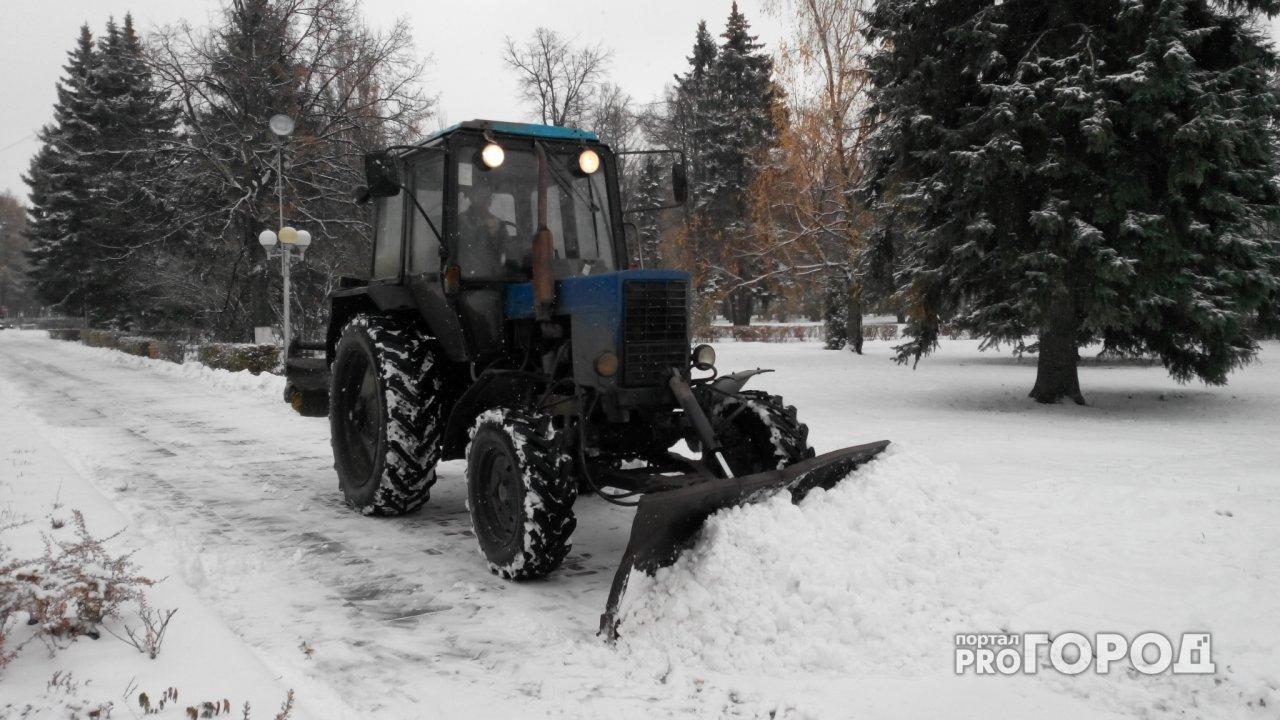 В Чепецке изменили график уборки снега из-за погоды