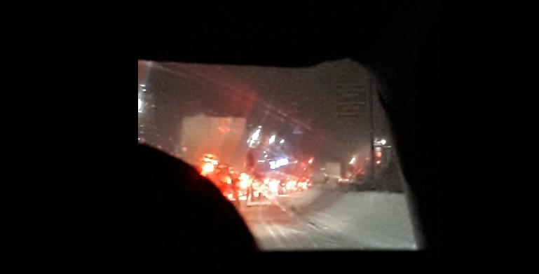 Видео: из-за ДТП на мосту перед въездом в Чепецк образовалась огромная пробка