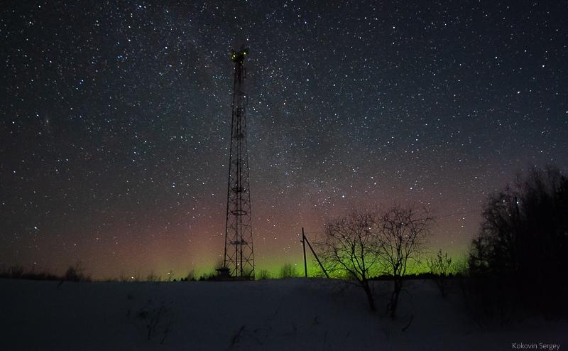 В Кировской области в первый день весны наблюдали полярное сияние
