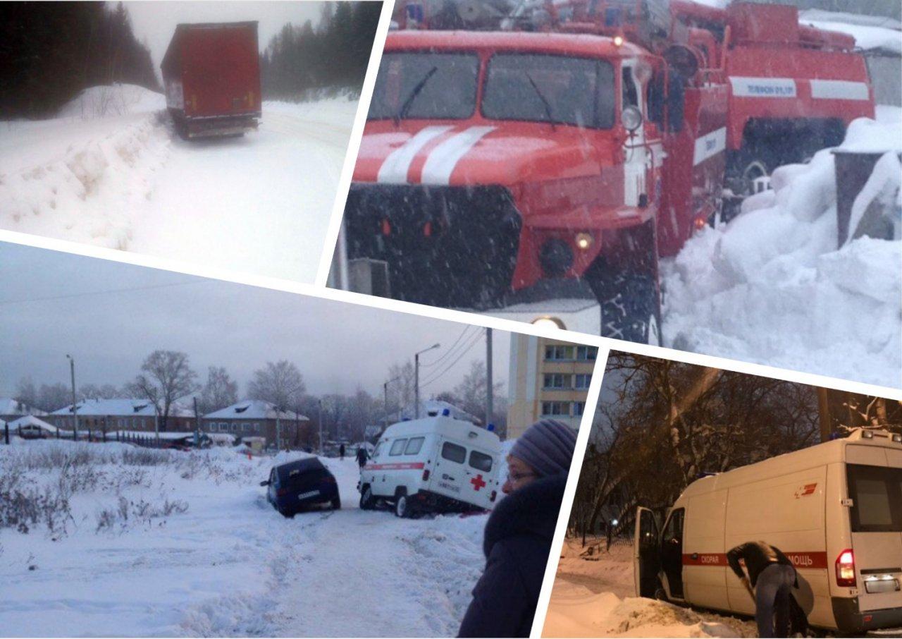 6 случаев, когда автомобили застревали в снегу в Кировской области