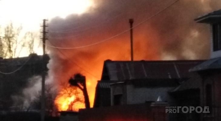 В Чепецком районе вспыхнул жилой дом: есть пострадавшие