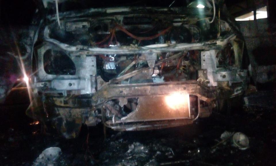 В Кирово-Чепецке сгорел «ГАЗ», стоящий в гараже