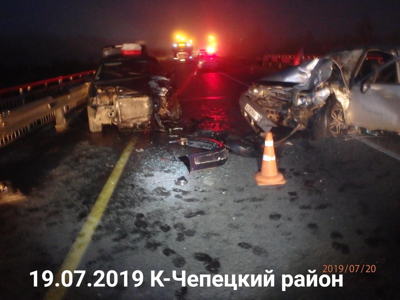 Пострадали четверо: известны обстоятельства лобового ДТП в Чепецком районе