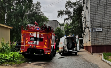 Видео: во время пожара на улице Ленина из высотки эвакуировали 12 человек