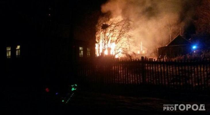 В Чепецком районе при пожаре молодой мужчина получил ожоги лица