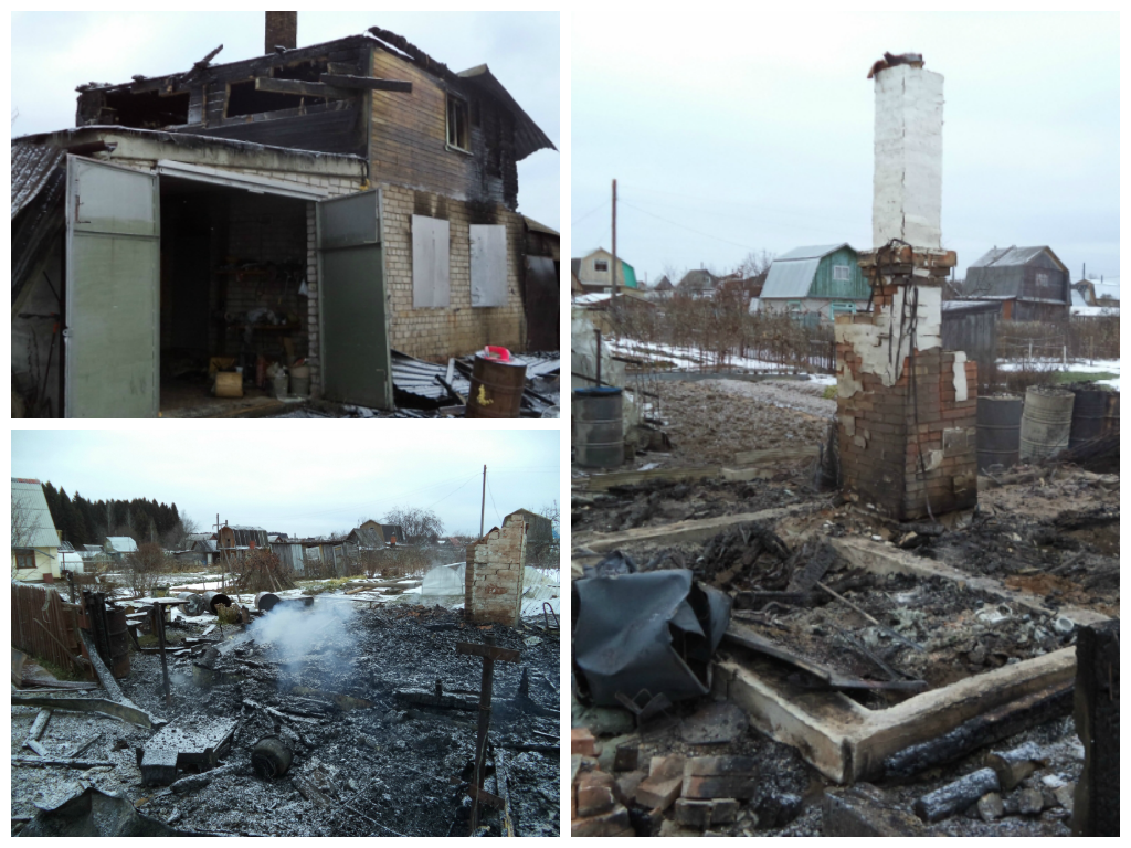 В Кирово-Чепецке в разных местах, но в одно и то же время загорелись несколько домов