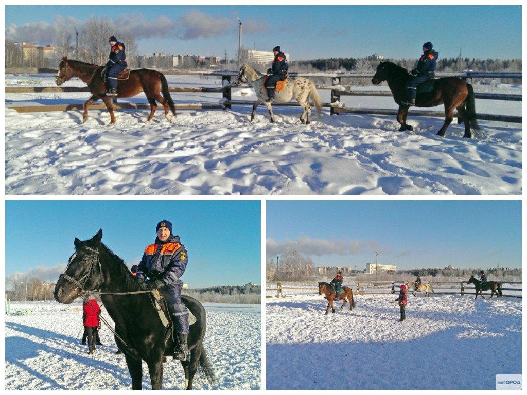 В Кировской области спасатели будут приезжать на помощь пострадавшим на лошадях