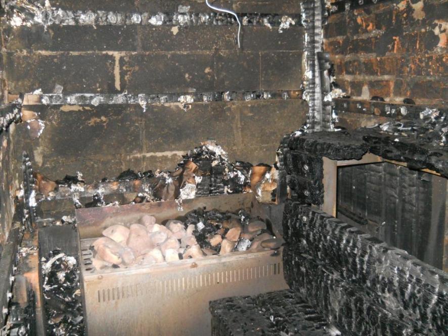 В Кирово-Чепецком районе сгорела баня
