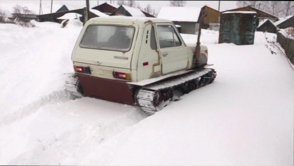 В Кировской области пенсионер сконструировал вездеход, чтобы ездить на рыбалку