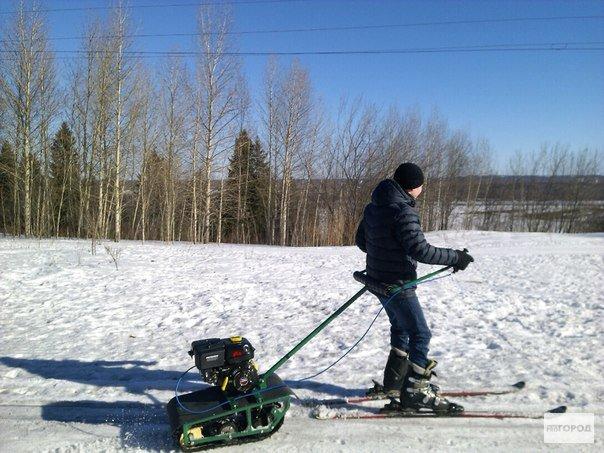 Кировчанин изобрел новый аппарат - толкач лыжника