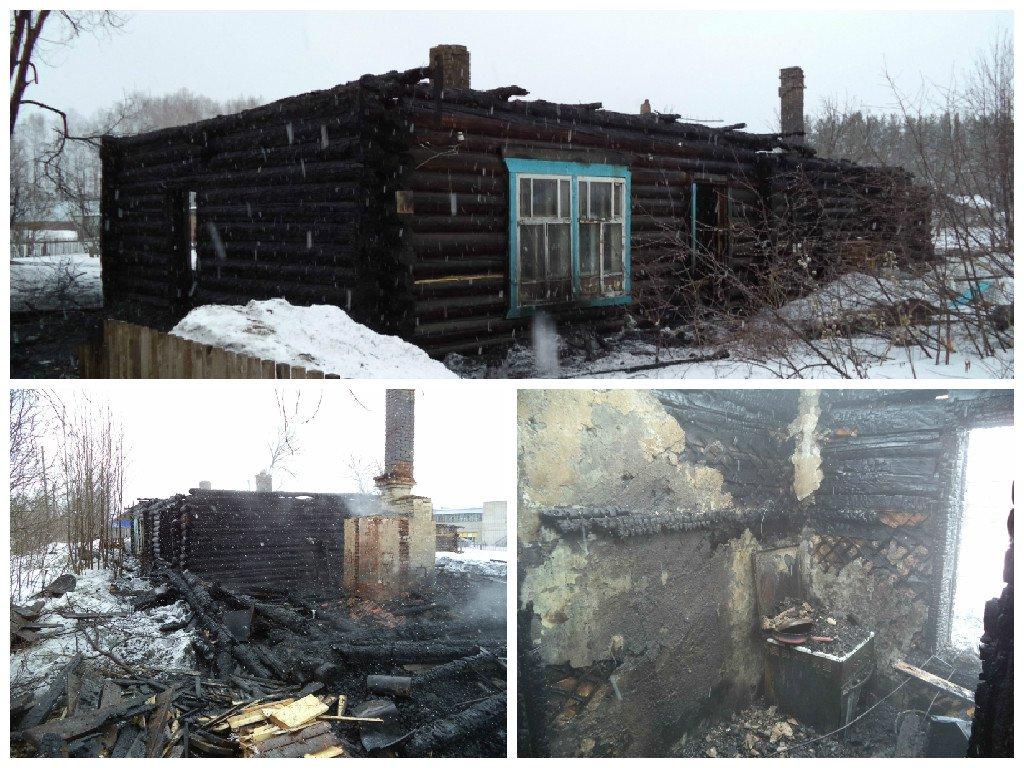 В Кирово-Чепецком районе сгорел жилой дом