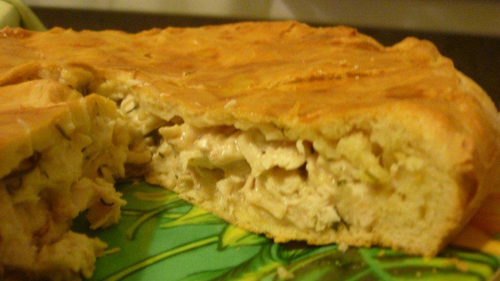 Куриный пирог с соусом Бешамель