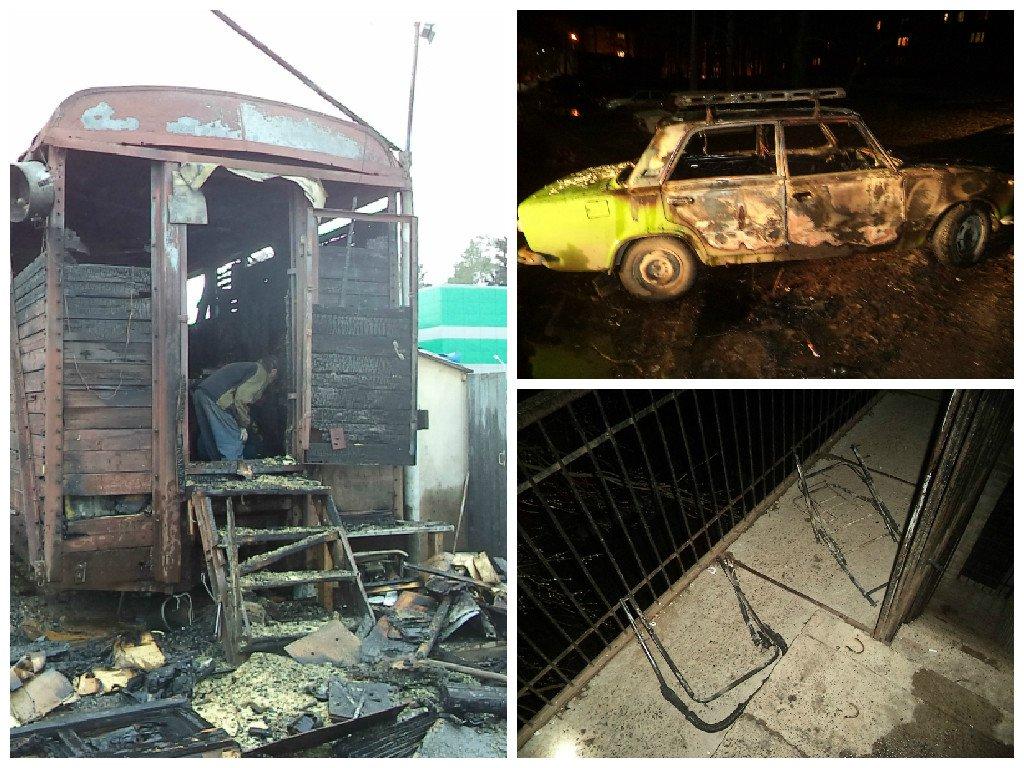 9 фото с пожаров, которые произошли в Чепецке и районе на прошлой неделе