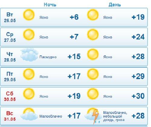 В Кирово-Чепецке ожидается жаркая погода всю неделю