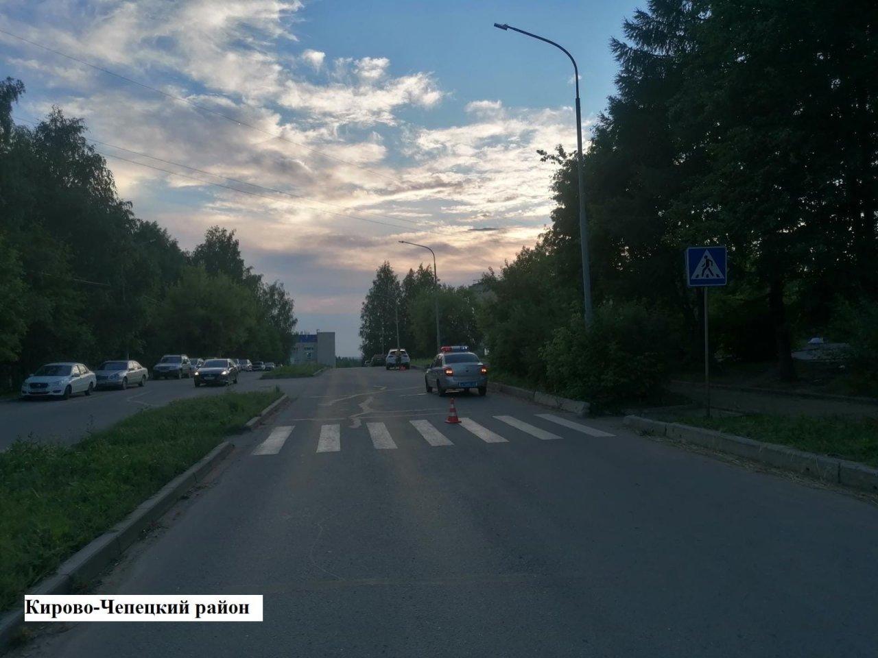 В Кирово-Чепецке водитель иномарки сбил ребенка на пешеходном переходе