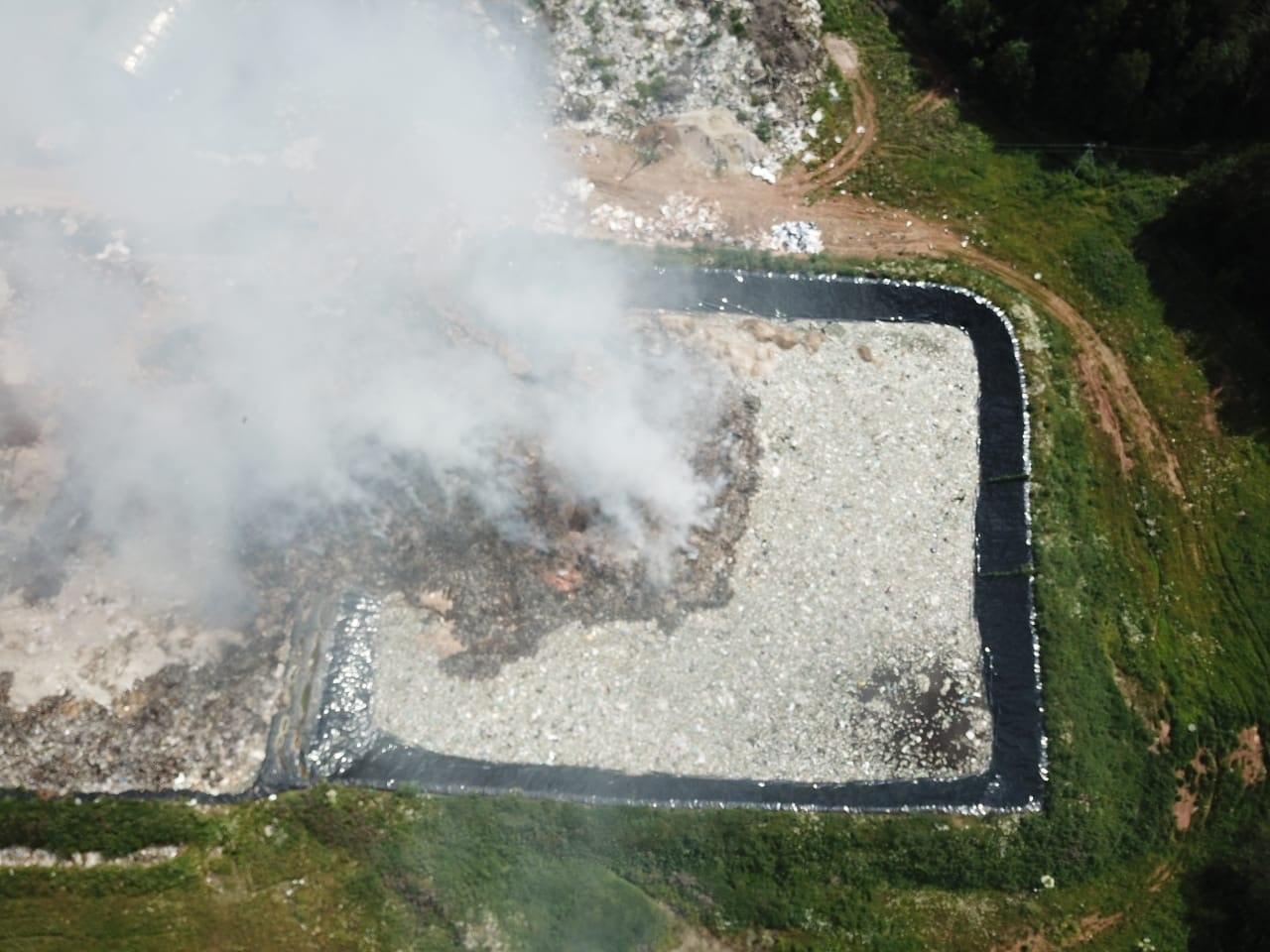 Под Просницей загорелся полигон твердых бытовых отходов