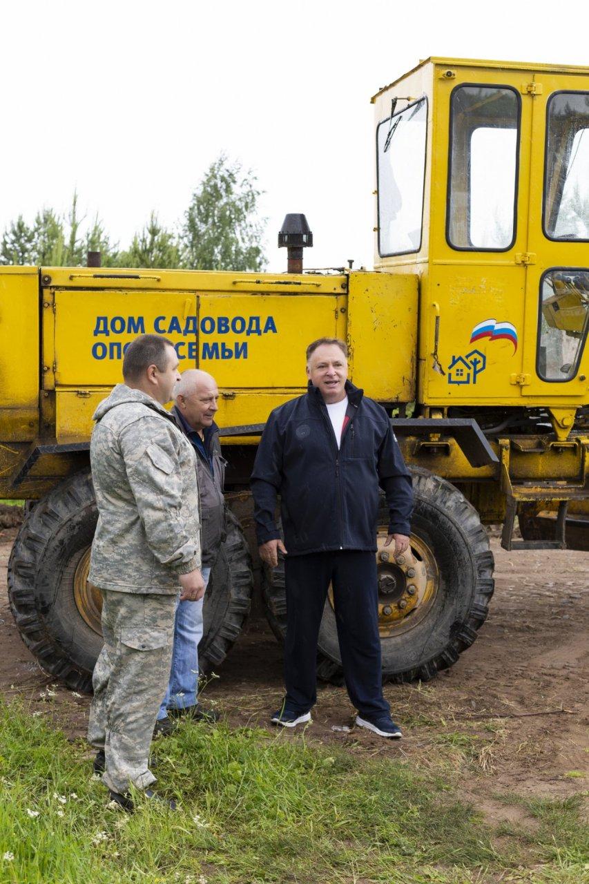 Союз садоводов начал грейдирование в Кирово-Чепецком районе