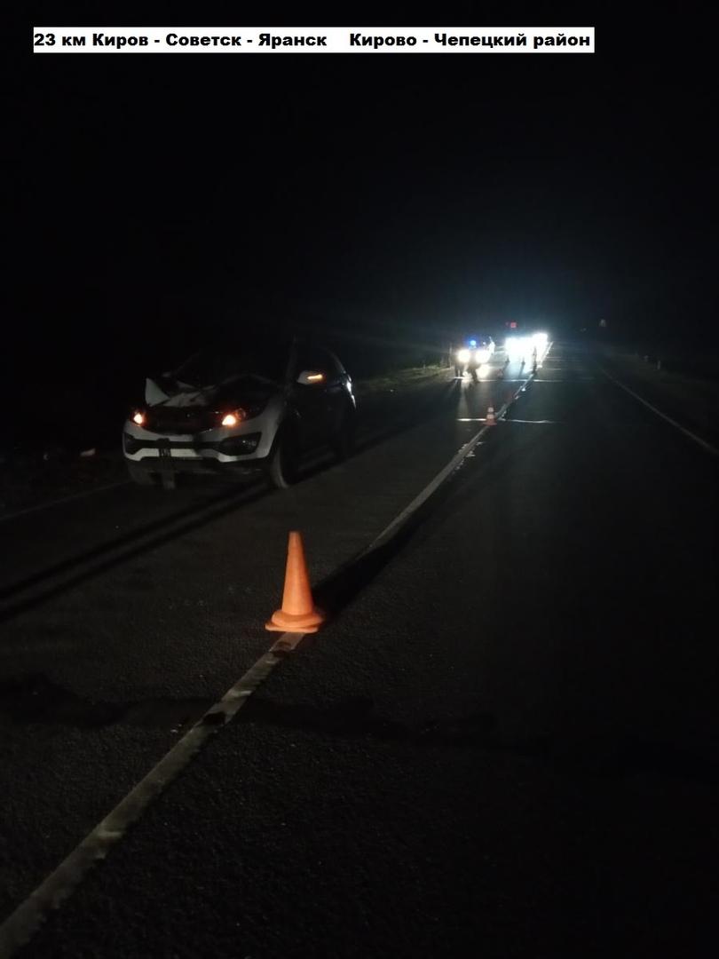 В Кирово-Чепецком районе водитель иномарки насмерть сбил пешехода