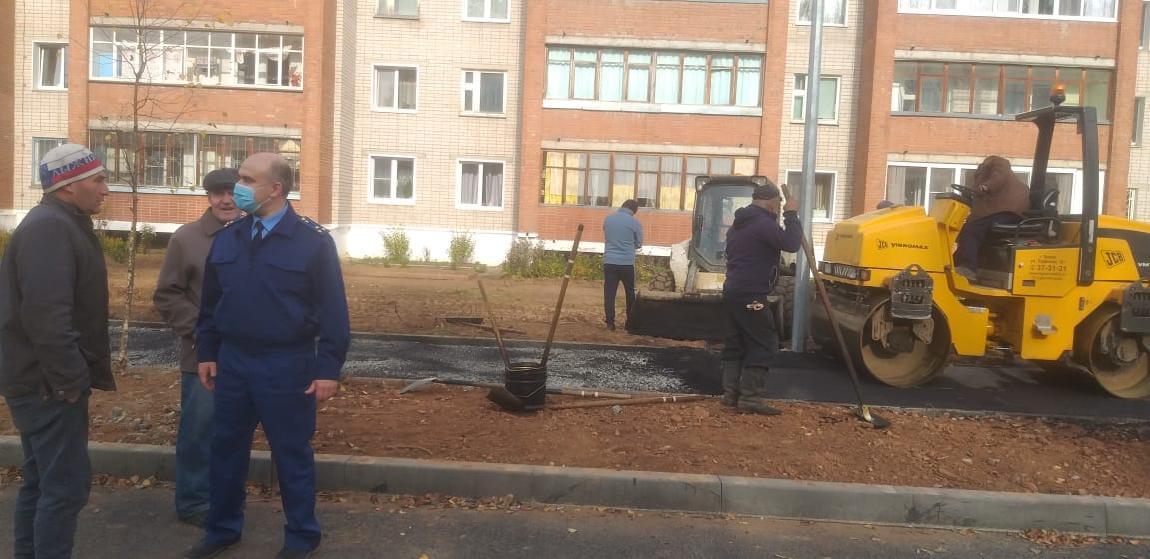 В Кирово-Чепецке подрядчик сорвал сроки ремонта дороги